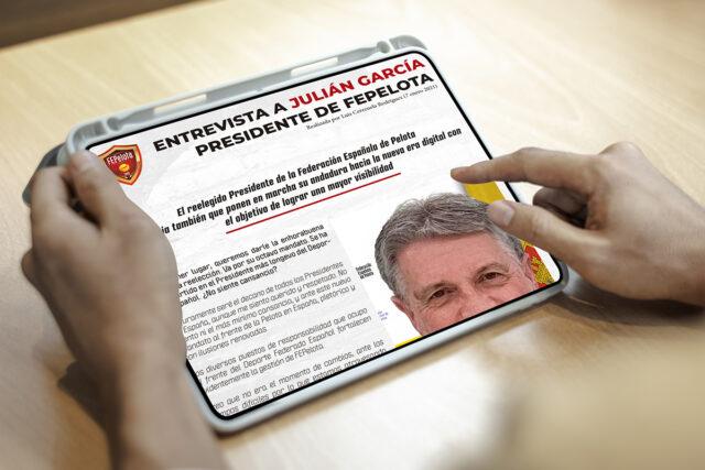 Entrevista a Julián García – Presidente FEPelota
