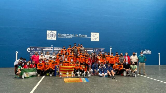 La COMUNIDAD VALENCIANA campeona del Federaciones edad escolar de frontenis PRE